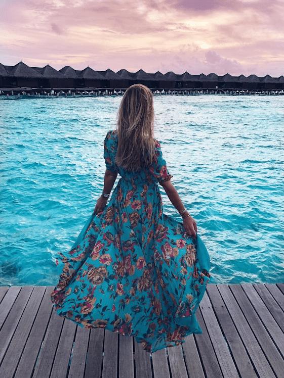 Amenapih Ravy Long Dress at Coco Mango Store in Waikiki Hawaii