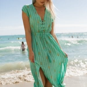 Angels by the sea Loha dress green