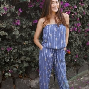 Angels by the sea Kapono Jumpsuit navy
